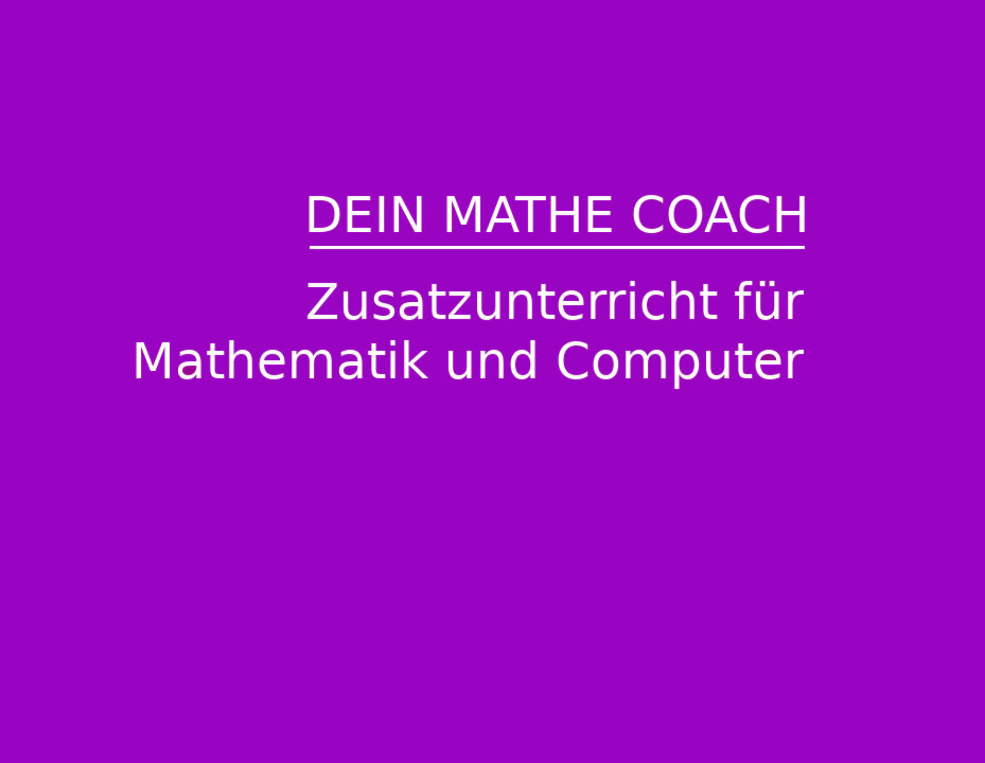 Mathe Coach